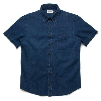 The Short Sleeve Jack in Mini Indigo Waffle