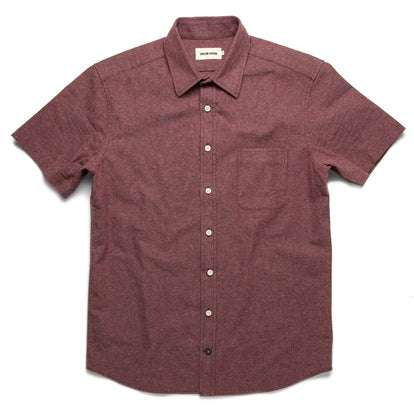 The Short Sleeve California in Burgundy Hemp