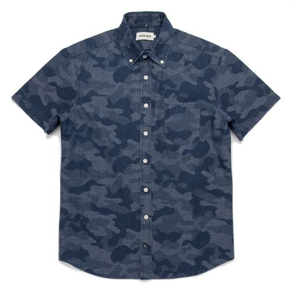 d41559d6ced2 ... The Short Sleeve Jack in Indigo Jacquard Camo
