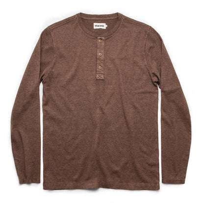 The Heavy Bag Henley in Fatigue Brown