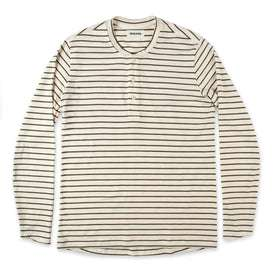 The Mercerized Merino Henley in Forest Stripe: Featured Image
