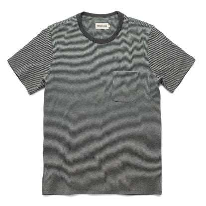 The Heavy Bag Tee in Grey Stripe