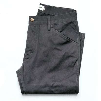 The Camp Pant in Charcoal Reverse Sateen