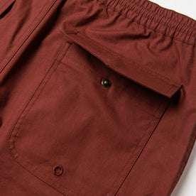material shot of back pocket open
