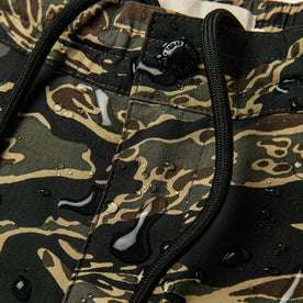 material shot of water on front fly and waistband
