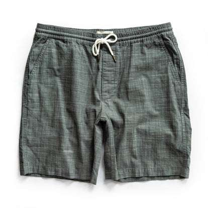 The Apres Short in Olive Pin Dot
