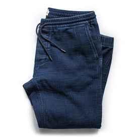 flatlay of pants, folded