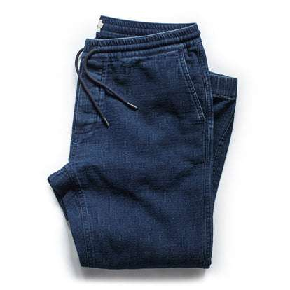 The Apres Pant in Indigo Double Cloth
