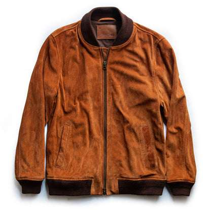 The Bomber Jacket in Whiskey Suede
