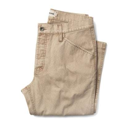 The Camp Pant in Khaki Herringbone