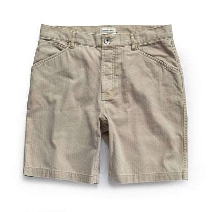 The Camp Short in Khaki Herringbone