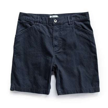 The Camp Short in Navy Herringbone