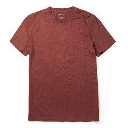 The Cotton Hemp Tee in Rust