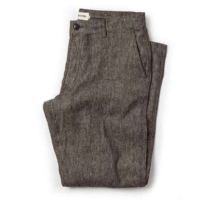The Easy Pant in Espresso Linen