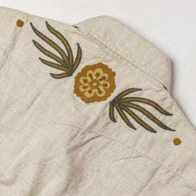 material shot of back embroidery
