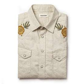 The Embroidered Short Sleeve Western in Natural: Alternate Image 9