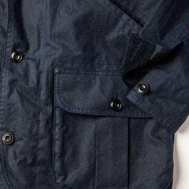 material shot of lower front pocket