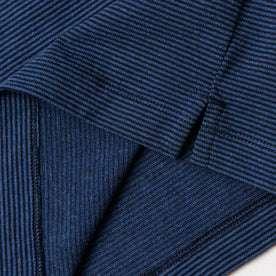 material shot of bottom stitching