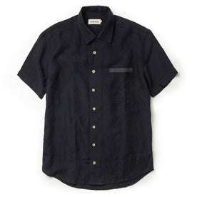 The Short Sleeve Hawthorne in Navy and Natural: Featured Image