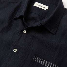 The Short Sleeve Hawthorne in Navy and Natural: Alternate Image 4