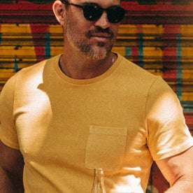 The Heavy Bag Tee in Straw: Alternate Image 2