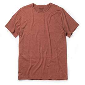 The Merino Tee in Brick Red: Featured Image