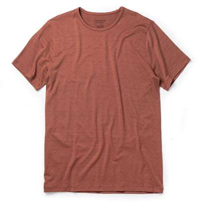 The Merino Tee in Brick Red