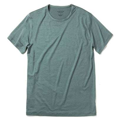 The Merino Tee in Sea Green