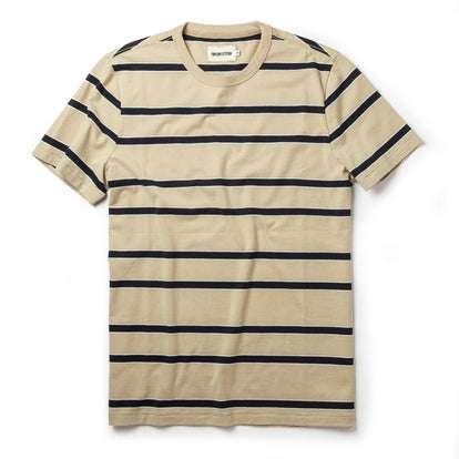 The Organic Cotton Tee in Khaki Stripe