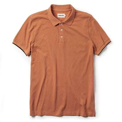 The Pique Polo in Coral