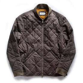 The Quilted Bomber Jacket in Espresso: Featured Image