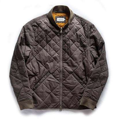 The Quilted Bomber Jacket in Espresso