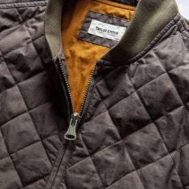 The Quilted Bomber Jacket in Espresso: Alternate Image 5
