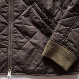 The Quilted Bomber Jacket in Espresso: Alternate Image 6