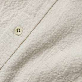 fabric shot of button