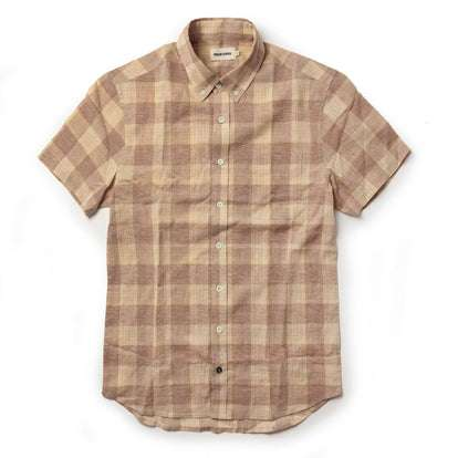 The Short Sleeve Jack in Red Madras