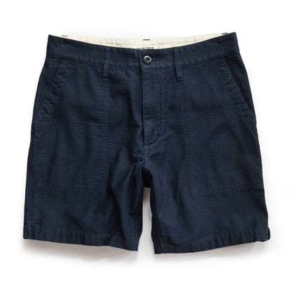 The Trail Short in Navy Reverse Sateen