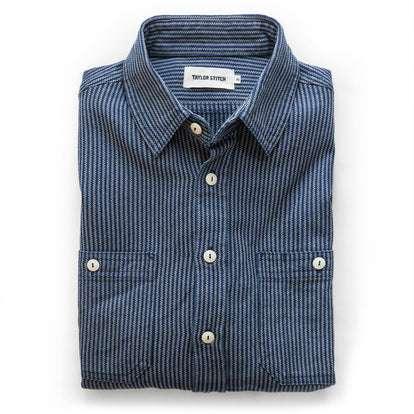 The Utility Shirt in Roped Indigo