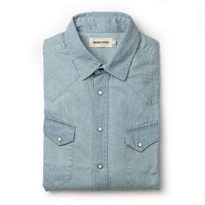 The Western Shirt in Washed Denim