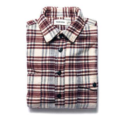 The Crater Shirt in Ivory Plaid