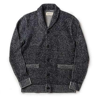 The Crawford Sweater in Marled Navy