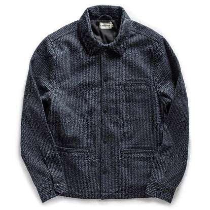 The Decker Jacket in Navy Wool Beach Cloth
