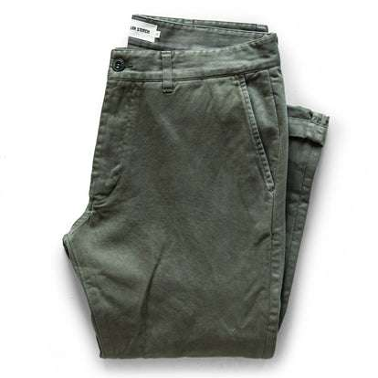 The Democratic Foundation Pant in Organic Olive