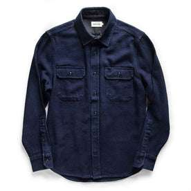 flatlay of The Division Shirt in Indigo Twill from Taylor Stitch,