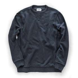 The Fillmore Crewneck in Coal Terry: Featured Image