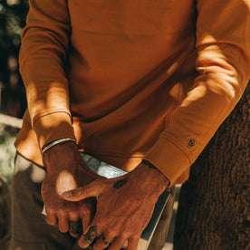 The Fillmore Crewneck in Saffron Terry: Alternate Image 2