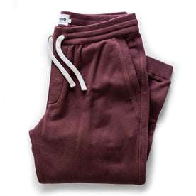The Fillmore Pant in Burgundy Terry: Featured Image