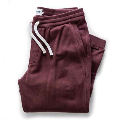 The Fillmore Pant in Burgundy Terry