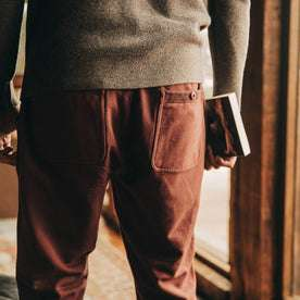 The Fillmore Pant in Burgundy Terry: Alternate Image 3