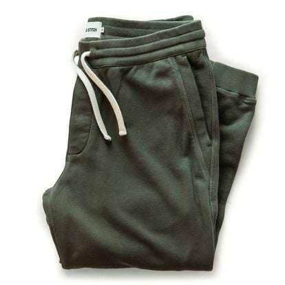 The Fillmore Pant in Dark Olive Terry